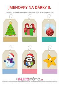 jmenovky na vánoční dárky 2