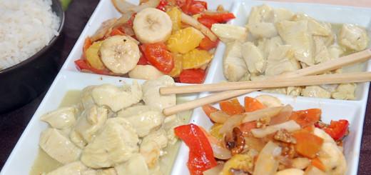 Kuřecí maso s banánem a pomerančem