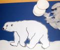 ledního medvěda nalepíme na papír a připravíme si kousky z vaty