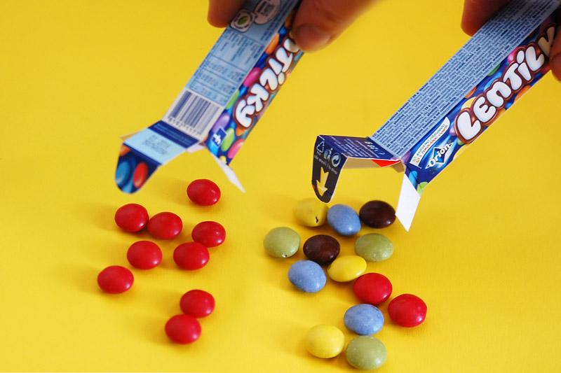 Jednoduchý trik s lentilkami na letní dětskou párty