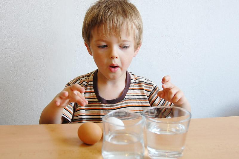 Poznám staré vajíčko? Jednoduchý pokus nejen pro děti