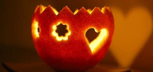 svícen z pomeranče