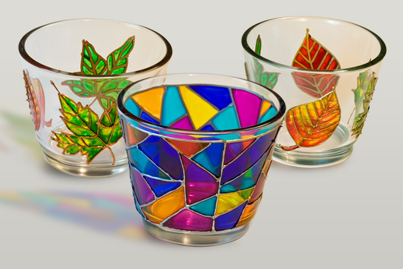 Vyrobte si originální svícen aneb barvy na sklo I.