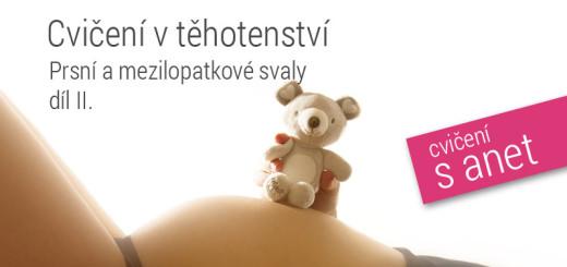 cvičení v těhotenství - prsní svaly