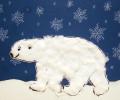 lední medvěd – hotový obrázek