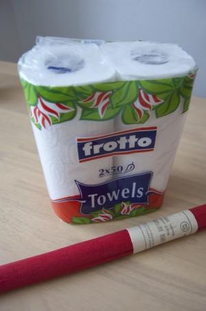 na  ruční papír můžete použít kuchyňské utěrky
