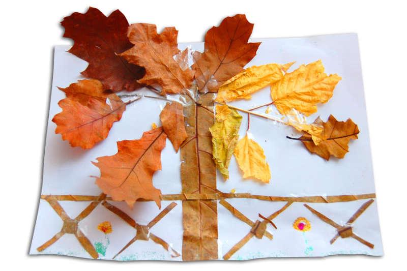 Tvoříme z krásně zbarvených podzimních listů